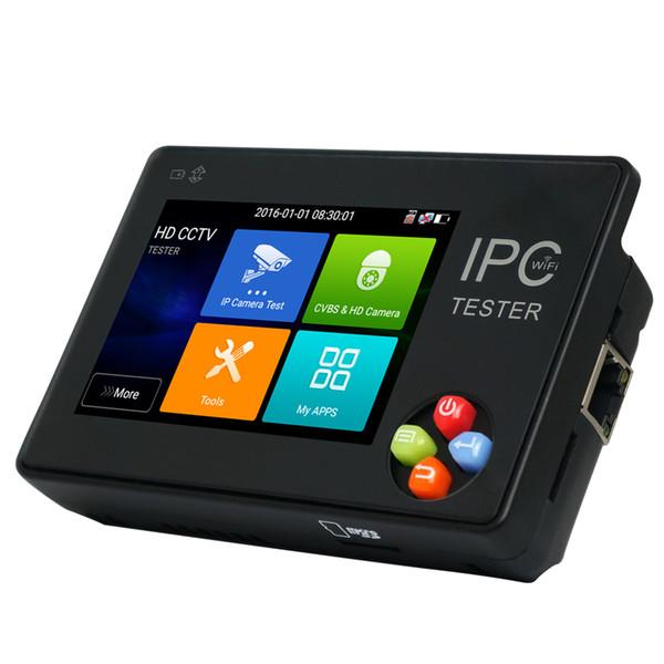 New 3.5 Inch IP CCTV Tester Monitor IP Analog Camera Testing H.265 4k ONVIF PTZ WIFI 12V1A output