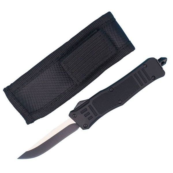 Allvin Manufacture Small Size 616 Auto Tactical Knife 440C Single Drop Point Fine Edge Blade EDC Pocket Knives With Nylon Bag