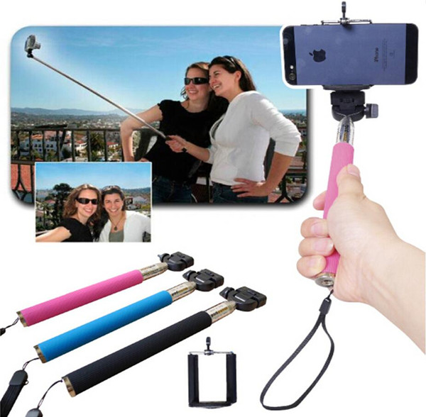 Z07-5S phone self-timer artifact, the self-groove wire rod, no Bluetooth self-timer, self-timer top handheld telescopic pole