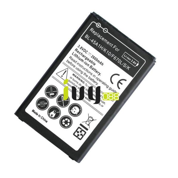 3шт/много 2600mAh аккумулятор BL-45A1H BL45A1H замена аккумулятор для LG К10 F670L F670K F670S K420N ЛТР с коэнзимом Q10 батареи K420 Batteria Batterie батарея