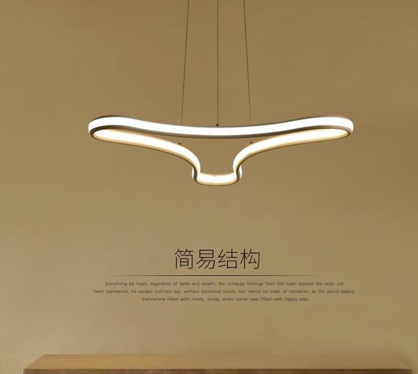 double glow modern led pendant chandelier lighting for living room redroom dining kitchen room home deco chandelier fixtures