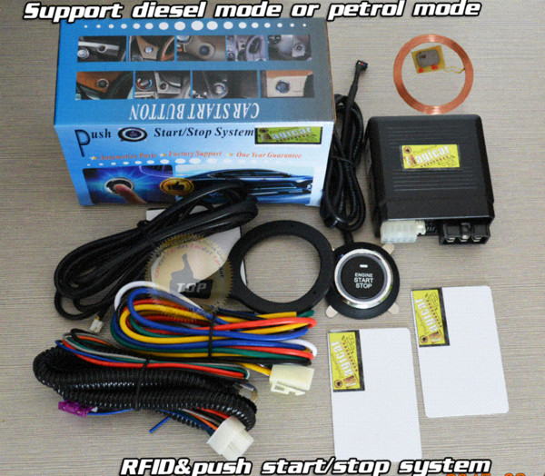 FID smart car alarm,immobilizer engine automatically,RFID induction technology,special long push button start system,CE pass alarm system...