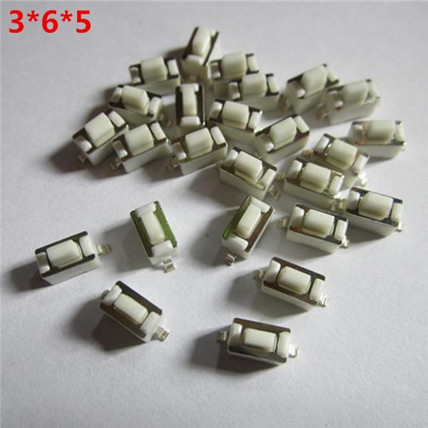 1000pcs/lot for 3*6*5mm SMD Microswitch Car Key tactile Button Switch for Car Remote Keys Switch button S311