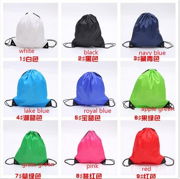 top popular wholesale 2016 mixed color sent drawstring tote bags Drawstring Backpack folding creative promotion gift shopping bags 2019