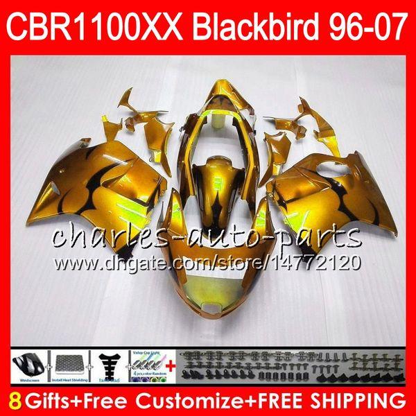 Body For HONDA Blackbird CBR1100 XX Golden black CBR1100XX 02 03 04 05 06 07 81NO65 CBR 1100 XX 1100XX 2002 2003 2004 2005 2006 2007 Fairing
