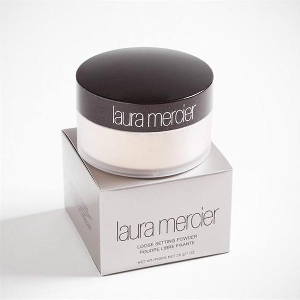 Tran lucent laura merci loo e etting powder makeup 3 color profe ional pouder libre fixante brighten concealer with box 29g