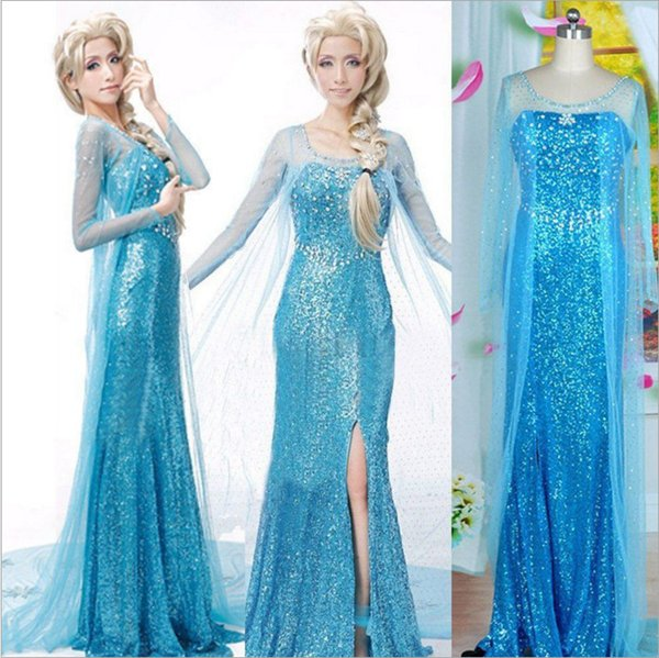 2016 newest Elsa costume frozen princess elsa dress frozen costume adult cosplay halloween costumes for women  sc 1 st  DHgate.com & 2016 Newest Elsa Costume Frozen Princess Elsa Dress Frozen Costume ...