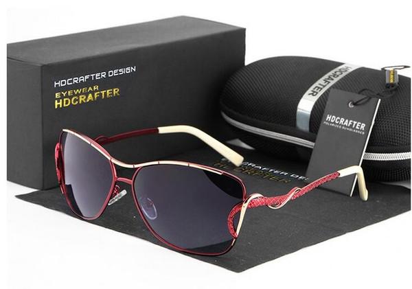 5 cores moda feminina polarizada óculos de sol mercúrio revestido anti  reflexo moldura de liga de dc416222c5