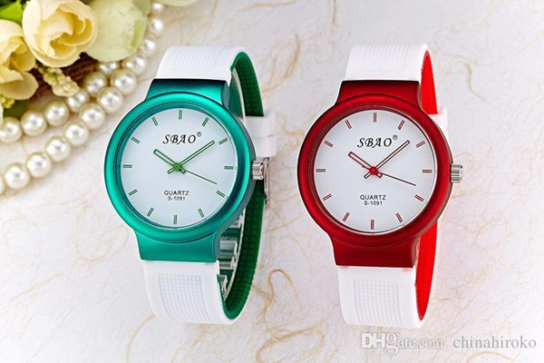 2015New Fashion Jelly Silicone watch Couple watches 22Colorful sport watches Student Wristwatch For man women quartz Wrist watch Free DHL