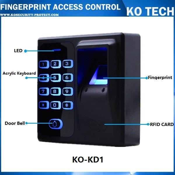 Atacado-Digital Elétrica Leitor RFID Sistema de Código de Scanner de Dedo Biométrico de Impressão Digital de Controle de Acesso para Fechadura Da Porta Sistema de Segurança Em Casa