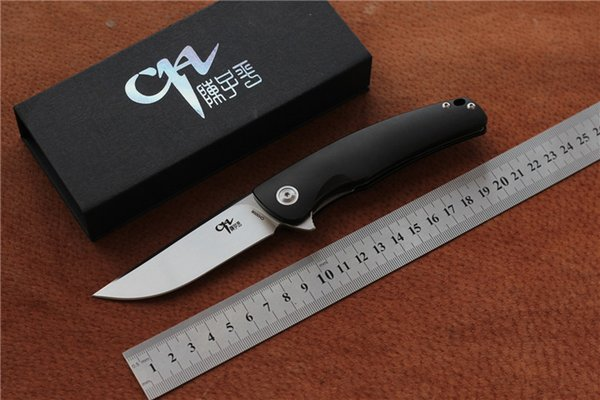 Free shipping,CH Knife Ch3006 hunting Knife 154CM Satin Blade fold Knives 7075 Aluminum Handle Razor Sharp for Cutting Slicing Utility Knife