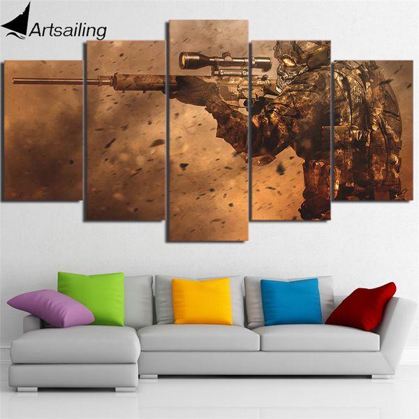 5 панелей, counter-strike современный абстрактный холст картины маслом печати стены искусства декора для гостиной украшения дома