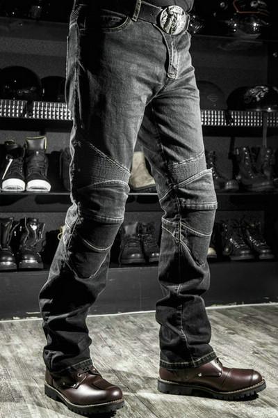 top popular Free shipping Komine motorcycle jeans motorcycle pants weerstand dunne denim broek rally moto broek blauw mannen mode Jeans protection jeans 2019
