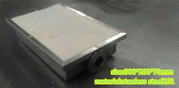honeycomb ceramic plate gas infrared burner Gas Catalytic Infrared burners for Conveyor BBQ gas grill BBQ
