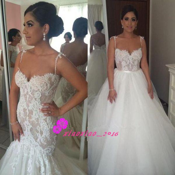 Steven Khalil Cute Two Pieces Mermaid Wedding Dresses 2016 Lace ...