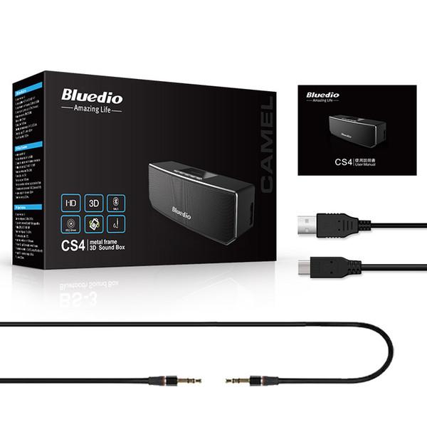 Großhandels-Groß Bass-Lautsprecher Bluedio CS4 Mini Bluetooth-Lautsprecher Bewegliche drahtlose Lautsprecher Sound System 3D Stereo Musik Surround