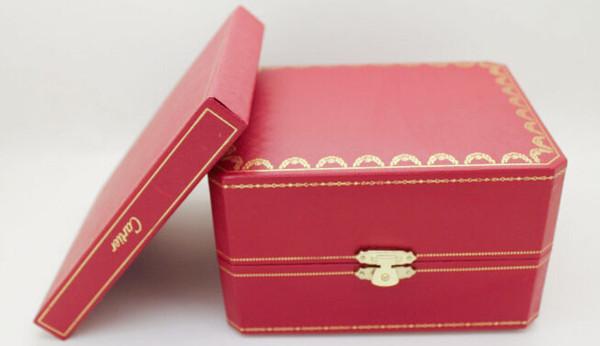 Scatola dell'orologio di lusso SCATOLA originale con il regalo superiore di marca del braccialetto del braccialetto del braccialetto dell'esposizione del braccialetto del regalo di marca del regalo rosso di cuoio