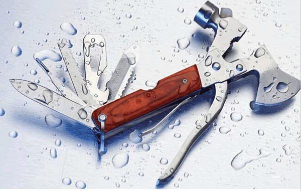 top popular 20pcs Hot Multi-function screwdriver pliers Axe knife saw bottle opener hammer outdoor tool set 2019