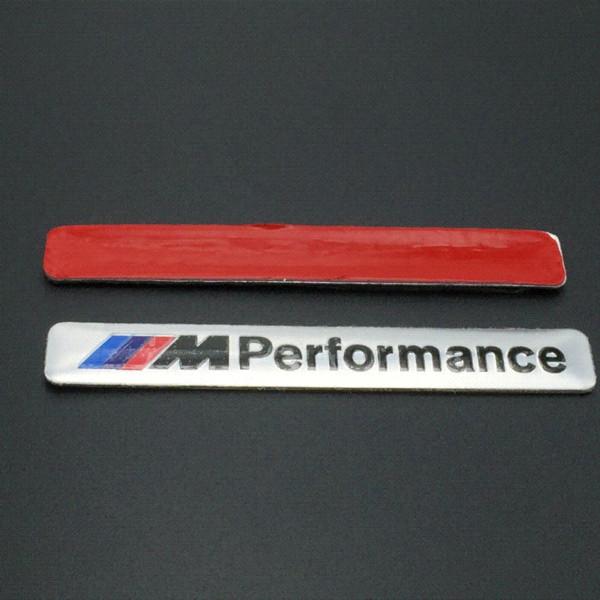 Car Styling 8.5x1.2cm Motosport M Performance Car Door Sticker Badge For BMW Decal m3 m5 X1 X3 X5 X6 E36 E39 E46