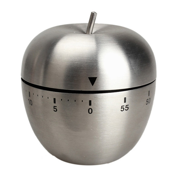 Free Shipping Cute Mini Apple Egg Mechanical New Kitchen Cooking Timer Alarm 60 Minutes Stainless Steel Digital Timer Alarm PTCT YH052