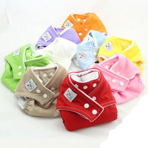 Reusable Diapers Washable Cloth Diaper Adjustable Baby Diaper Colorful Infant Diapering 9 Colors Optional DHL free DHT233