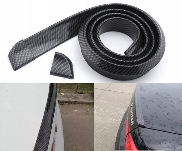 best selling Quality 1.5M Carbon Fiber Universal Car Tail Spoiler Automotive Car Styling Accessories Exterior Auto Parts