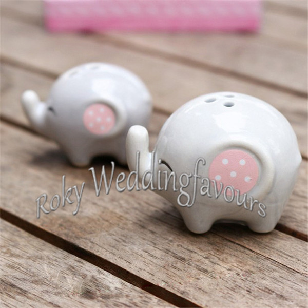 FREE SHIPPING 24 Sets MOMMY AND ME Little Peanut Elephant Salt and Pepper Shaker Party Gifts Great Baby Shower Decor Ideas