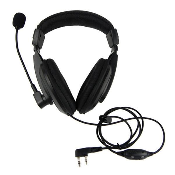 VOX Headset Earpiece For KENWOOD WOUXUN QANSHENG PUXING BFUV5R H555 TYT Ham Radio Walkie Talkie C0134A Fshow