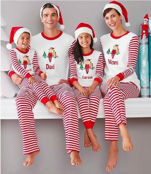 Christmas Pajamas.Christmas Family Matching Clothing Sets Pajamas Clothing Mother Daughter Father Son Clothes Christmas Pajamas Family Clothing Sets La539 2 Childrens
