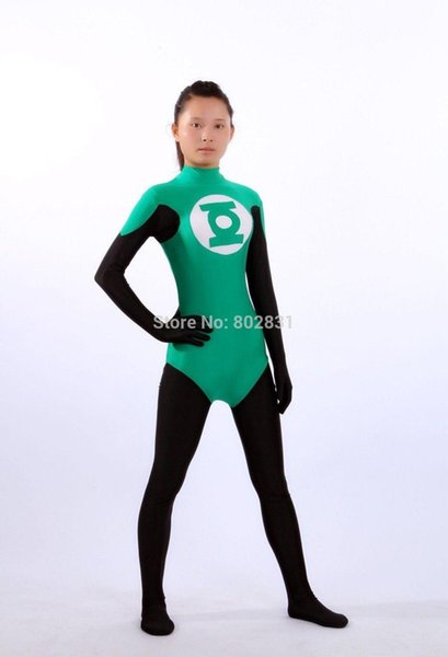 Green Lantern Adult Size Back Zip Women Cosplay Outfit Fancy Cosplay Suit.