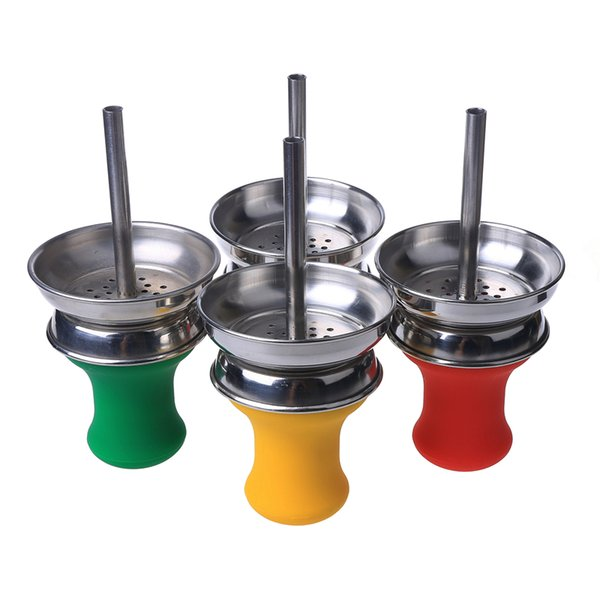 Soulton Glass Carbon Isolation Bowl Grail Shape Shisha Accessories Shisha Bowl Colorful Shisha Parts for Hookah DHL Free Shipping SHB-023
