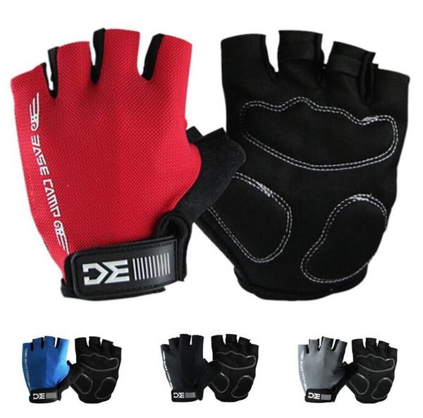 Basecamp medio dedo guantes bicicleta transpirable deporte ciclismo medio dedo guantes de bicicleta al aire libre 4 color KKA2370