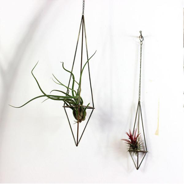Mensola di ferro arti artigianali in metallo Himmeli vasi da fiori fioriere all'ingrosso giardino arte vaso deposito metallo stand Stereo geometrica vaso vaso di rame