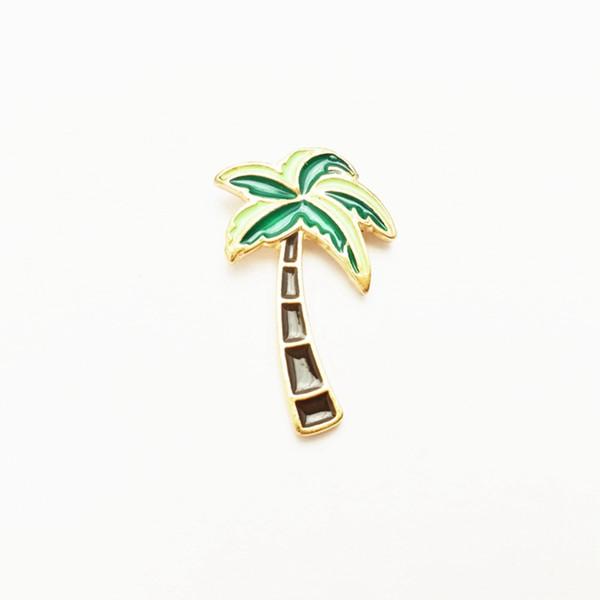 Liga Esmalte Pin Cactus Coqueiro Árvore Dos Desenhos Animados Gotejamento Broche de Moda Personalizado Emblema Decor Multi Padrão 1 5yxc F R