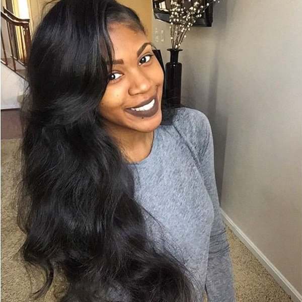 Pre Plucked Full Lace Human Hair Wigs with Baby Hair Vietnamese Body Wave Lace Front Wig for Black Women G-EASY