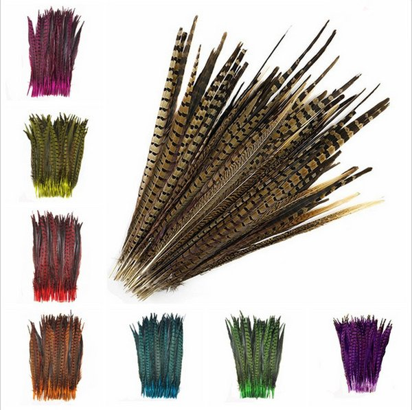 Wholesale 100Pcs/lot beautiful natural pheasant tail feathers 40-45cm/16-18inches