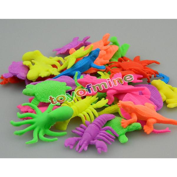 20 stücke Kunststoff Ozean Kreaturen Seelöwe Delphin Tiere Figur Kinder Spielzeug Geschenke