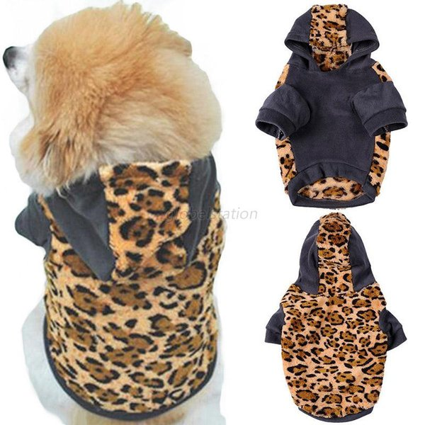 Cat Dog Clothes Pet Hoodie Winter Apparel Puppy Supplies Small Large Dog Sweater With 2 Colors Leopard Camouflage