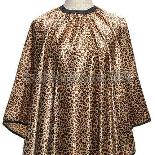 1Pcs Leopard Hair Cape Hairdressing Cut Salon Hairstylist Barber Gown Cloth Sleeve Wrap Styling Tools Caps