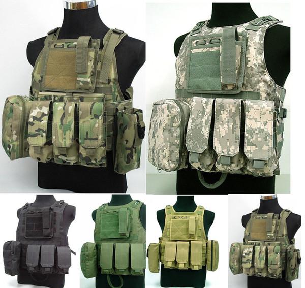 gilet da combattimento 5 colori per la scelta US Marine Assault Plate Carrier Vest Digital ACU Camo Tactical Vest free ship