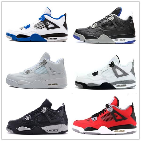 Klasik 4 4 sro bravo korku paketi ile beyaz çimento erkekler kadınlar basketbol ayakkabı sneakers kutu yetiştirilmiş yüksek spor ayakkabı boyutları 5.5-13