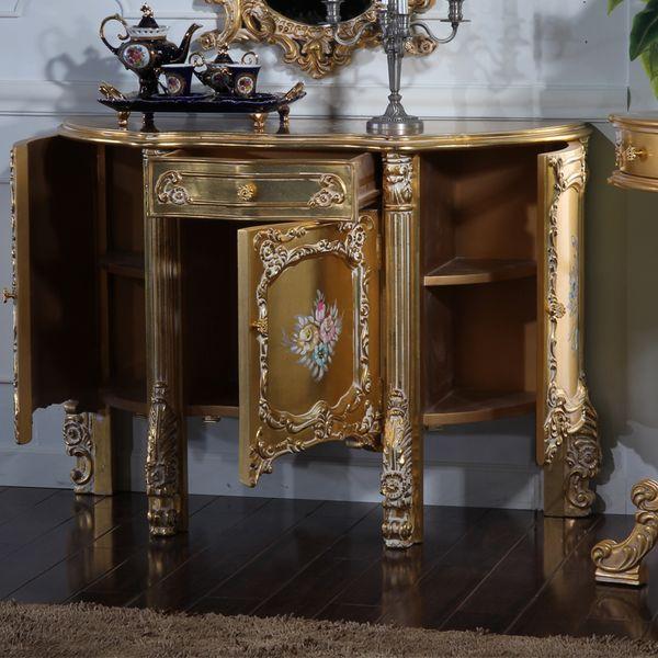 italian antique furniture - baroque handcraft cracking paint floor cabinet