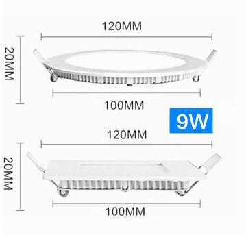 Dimmable 9W ronde