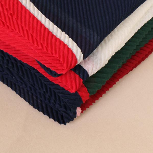 High quality soft cotton pleat patchwork scarf design wrinkle hijab ladies muslim Muffler wrap scarves/scarf 10pcs/lot 12 color
