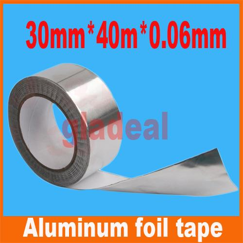 Wholesale-30mm*40m*0.06mm Industry BGA Aluminum Foil Tape Adhesive Heat Conduction Shielding Cellphone LCD Computer electric Repair