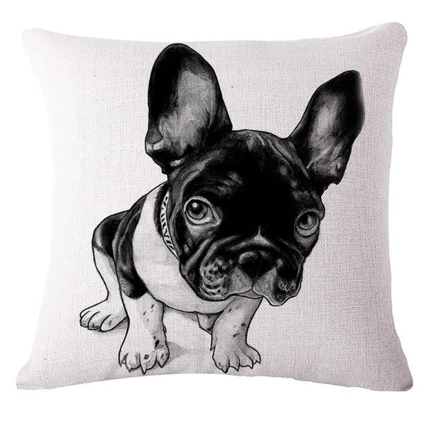 Wholesale- Pillow Case Home decorativi pattern Cushion emoji pillow Lovely french bulldog Chair Cushions Decorative Pillow covers Cojines