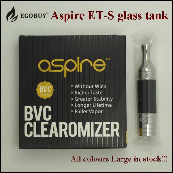 100% Original aspire et-s glass tanks ets bvc clearomizer et s stainless steel atomizer replacement bvc coil vs atlantis v2 nautilus aio