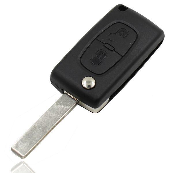 Flip 2 Tasten Folding Fob Schlüsseltasche Blank Shell Cover für Citroen C2 C5 C3 C4 C6 C8 CE0523 Kostenloser Versand