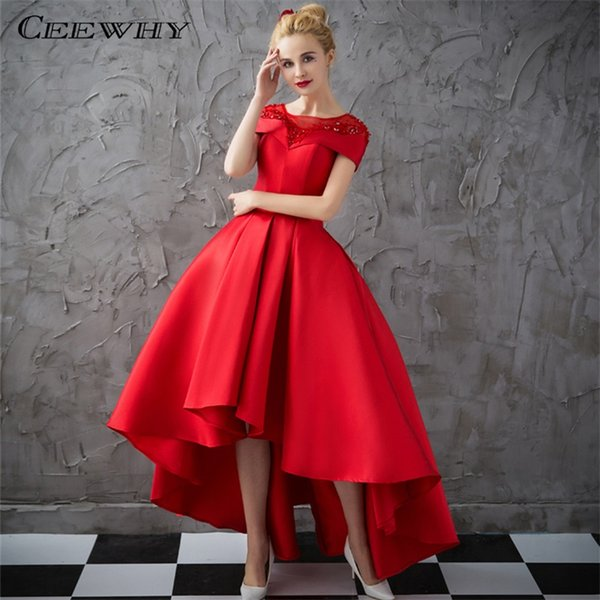 Ceewhy Asymmetrical Ball Gown Evening Dresses With Jacket 2017 ...