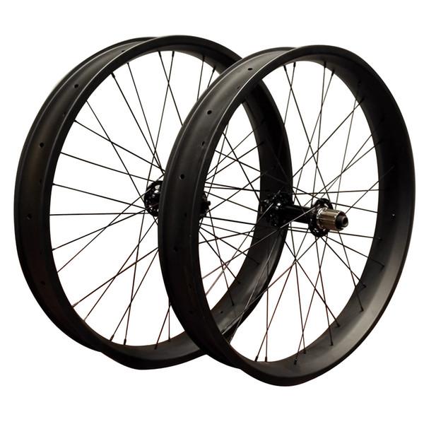 26er Carbon Fiber Bicycle Wheelset width 65mm Christmas Gift Fatbike Wheels Discount Snowbike wheel set bike parts